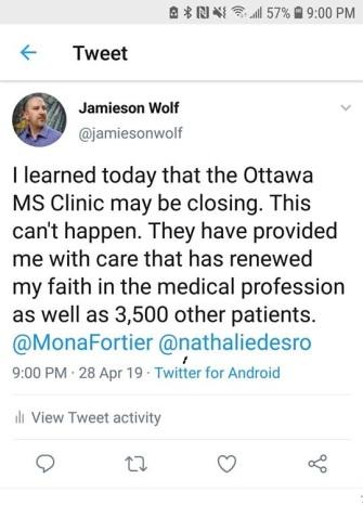 MS Clinich tweet